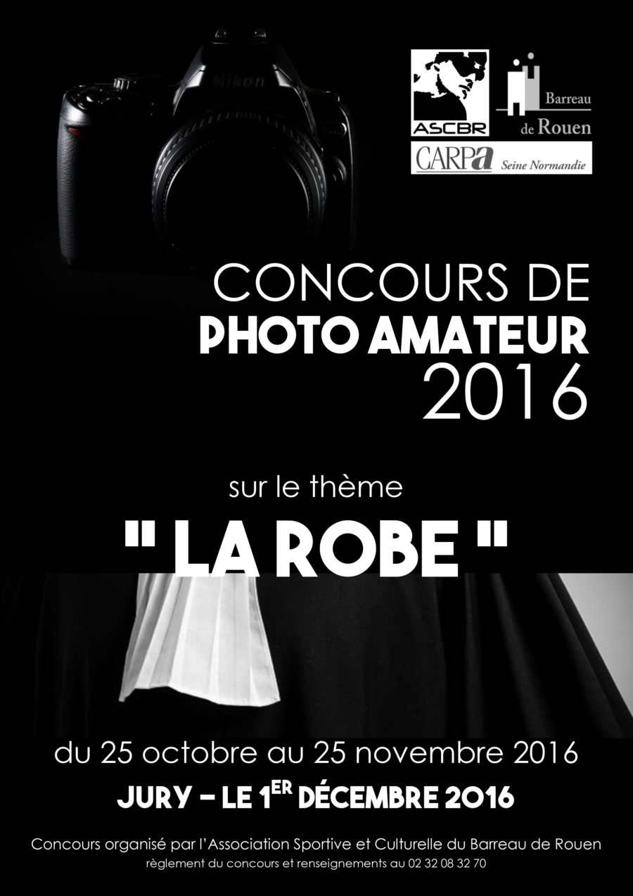 Concours de photo amateur 2016 : Règlement